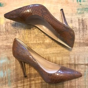 WHBM | Leather Pumps, Size 7.5